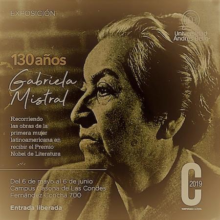 1. Póster de la Exposición Gabriela Mistral