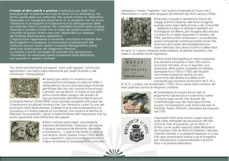 Folleto explicativo de la exposición, con la descripción de los libros más antiguos y valiosos de la Biblioteca.