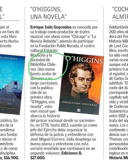 Novela de Enrique Inda