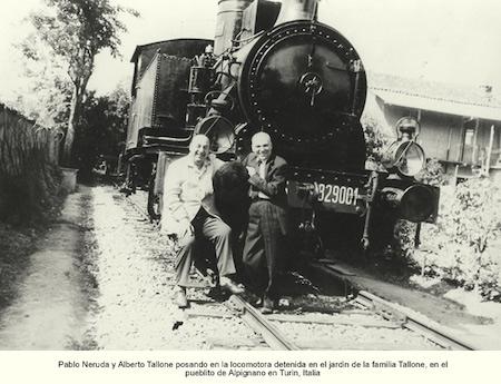 Alberto Tallone e Pablo Neruda ad Alpignano