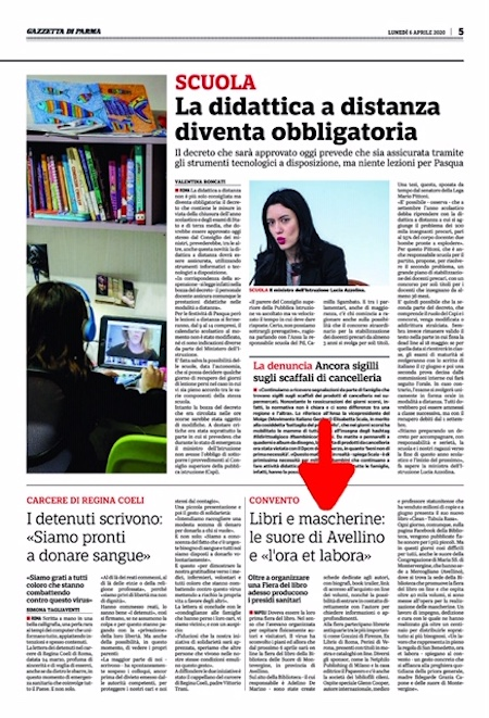 La Gazzetta di Parma. Lunedì 6 aprile 2020, pagina 5.