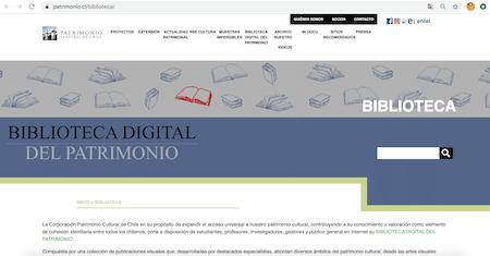 Corporación Del Patrimonio Cultural De Chile Comparte Su Biblioteca Digital