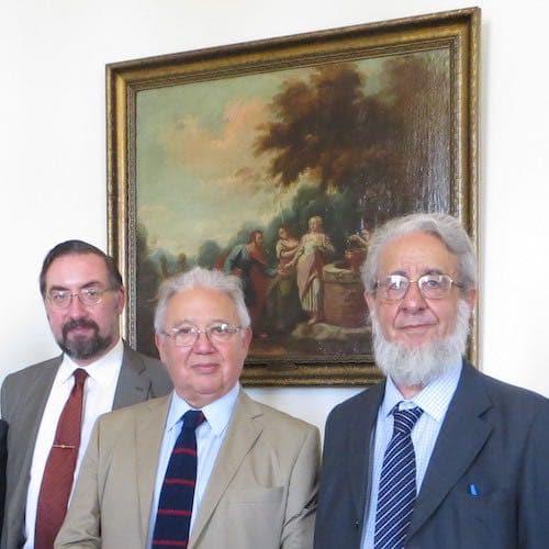 Felipe Vicencio Eyzaguirre, Enrique Inda y Ricardo Couyoumdjian, presidente SBCH