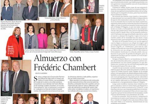 Roberto Fuenzalida Invita A Una Conferencia-almuerzo Con El Director Del Teatro Municipal