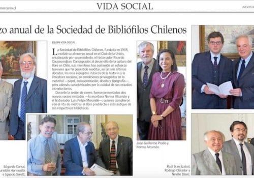 Sociedad De Bibliófilos Recibe A Nueva Socia