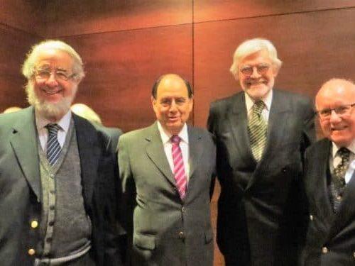 Ricardo Couyoumdjian (Presidente SBCH), Juan Eduardo Vargas, Neville Blanc (Secretario) Y Antonio Dougnac