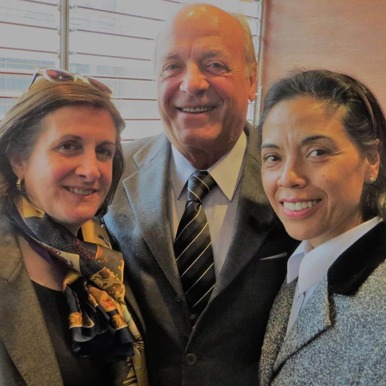 Cecilia García-Huidobro, Franco Brzovic y Norma Alcamán.
