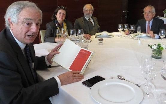 Exequiel Lira, Cecilia García-Huidobro, Sergio Martínez Baeza y Roberto Fuenzalida.