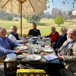 Exequiel Lira durante la reunión de Directorio 2021 de la Sociedad de Bibliófilos Chilenos, en el Club de Golf Los Leones.