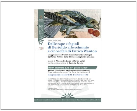 Exposición «Dalle Rape E Fagioli Di Bartolo Alle Scimmie E Cinocefali Di Enrico Wanton», Desarrollada Y Organizada Por Alessandra Basso