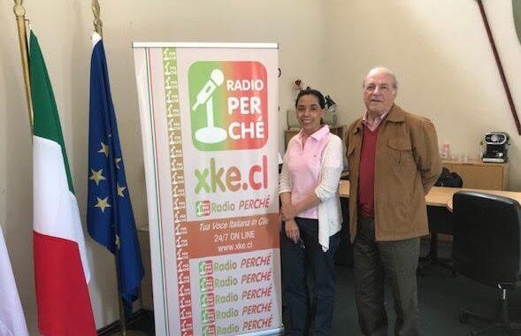 Directora Norma Alcamán Y Socio Franco Brzovic Dan Entrevista En La Radio Italiana En Chile