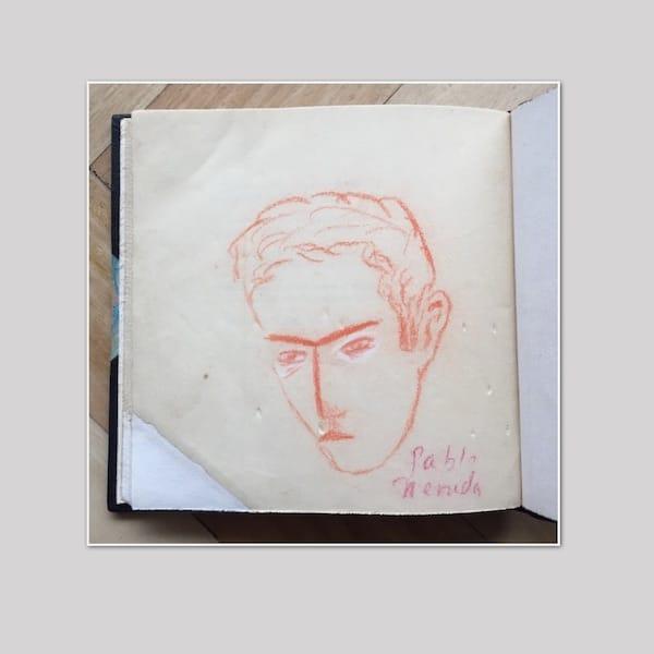 Retrato de Pablo Neruda, autor desconocido