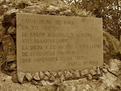 Poema de Pablo Neruda a la Isla de Capri