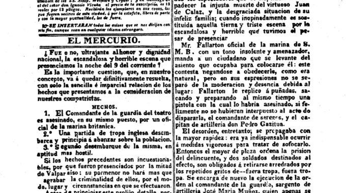 El Mercurio De Valparíso N°1