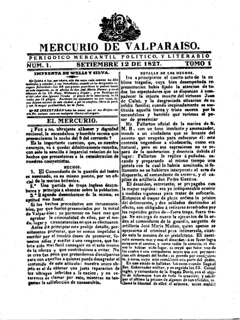 El-Mercurio-de-Valparíso-N°1
