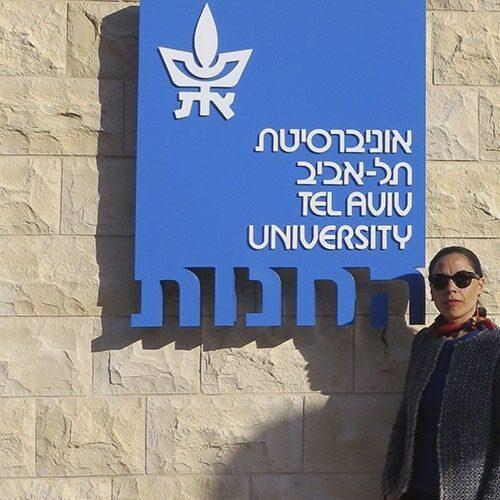 Norma Alcaman Visita La Tel-Aviv University, In Israele.