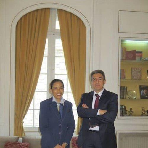 Norma Alcaman Con Alejandro Neyra, L'attuale Ministro Della Cultura Del Perù.
