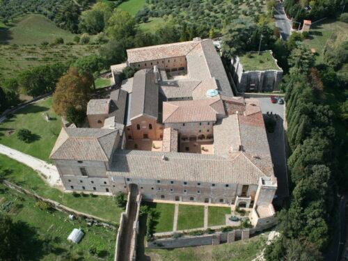 La Biblioteca Del Convento Di Monteripido, Perugia, Umbria.