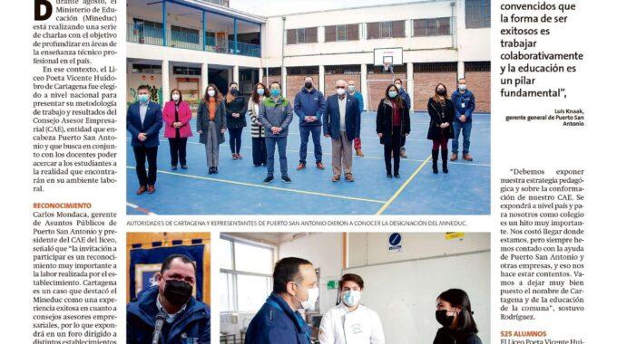 Representantes De Puerto San Antonio Y El Alcalde, Visitan Liceo En Cartagena