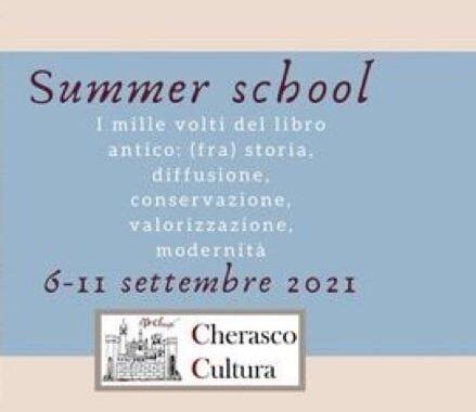 Summer School Dedicata Allo Studio Del Libro Antico. Lunedì 6 Settembre 2021.